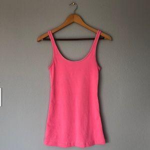 lululemon Pink + White Stripe Tank Top, Small/4